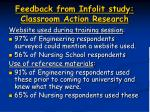 feedback from infolit study classroom action research2