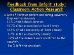feedback from infolit study classroom action research3