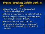 ground breaking infolit work in sa
