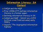 information literacy sa context