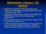 information literacy sa context1