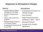 responses to atmospheric changes