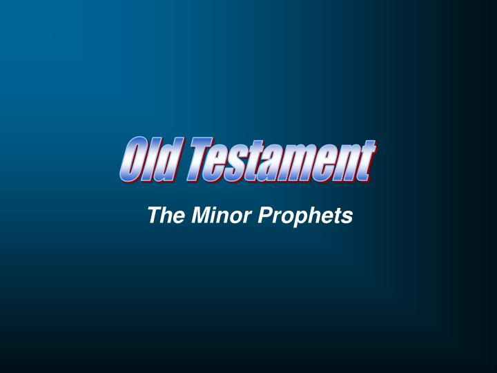 the minor prophets n.
