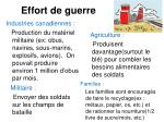 effort de guerre