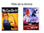 r le de la femme