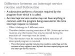 difference between an interrupt service routine and subroutine