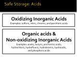 safe storage acids