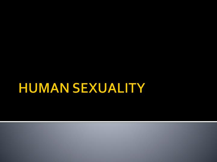 human sexuality n.