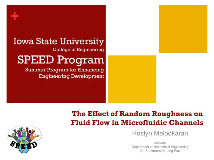 the effect of random roughness on fluid flow in microfluidic channels n.