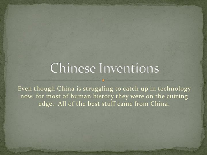 chinese inventions n.