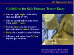 guidelines for safe primary trocar entry