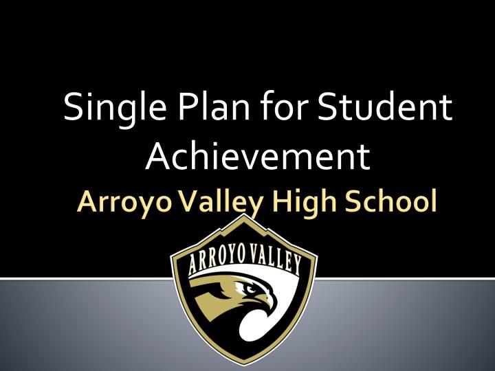 single plan for student achievement n.