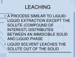 leaching