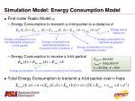 simulation model energy consumption model