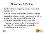 numerical diffusion