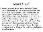making aspirin8