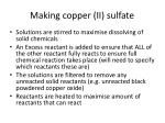 making copper ii sulfate3