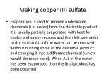 making copper ii sulfate4