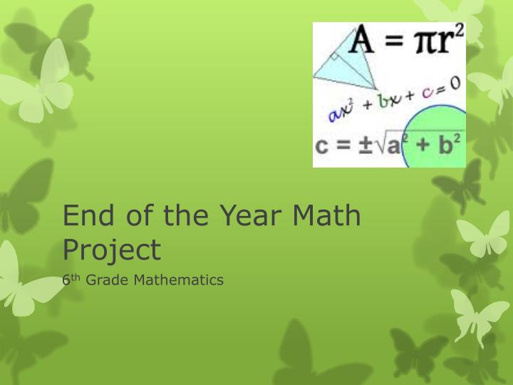 end of the year math project n.