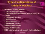 types configurations of catalytic reactors