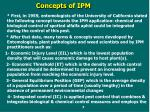 c oncepts of ipm