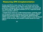implementation measuring ipm