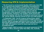 measuring ipm implementation