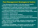 pest management strategies tactics