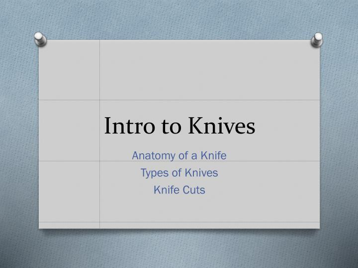 intro to knives n.
