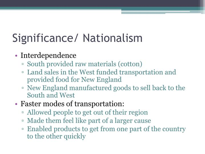 Significance/ Nationalism