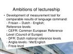 ambitions of lectureship1