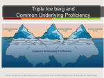 triple ice berg and common underlying proficiency