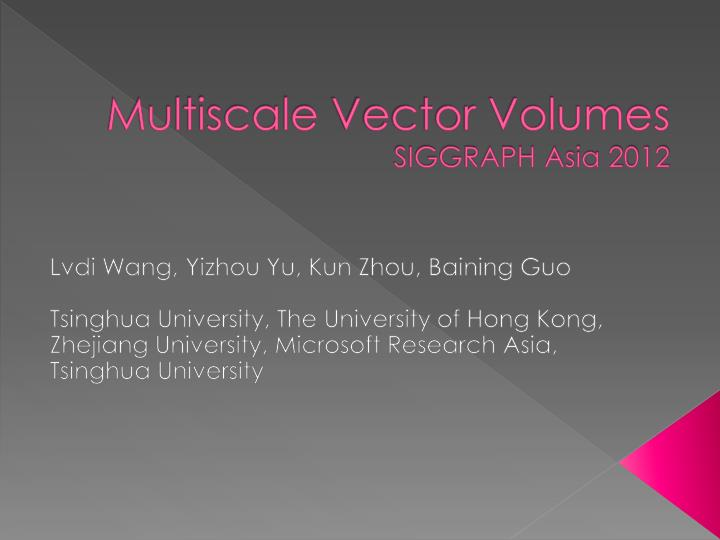 multiscale vector volumes siggraph asia 2012 n.