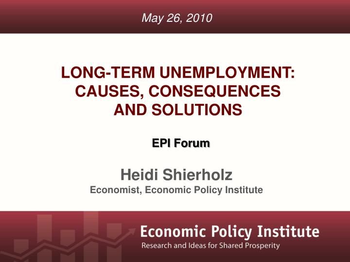 long term unemployment causes consequences and solutions n.