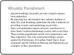 altruistic punishment