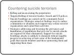 countering suicide terrorism