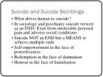suicide and suicide bombings