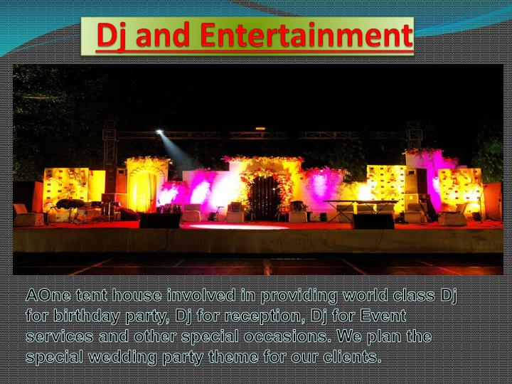 dj and entertainment n.