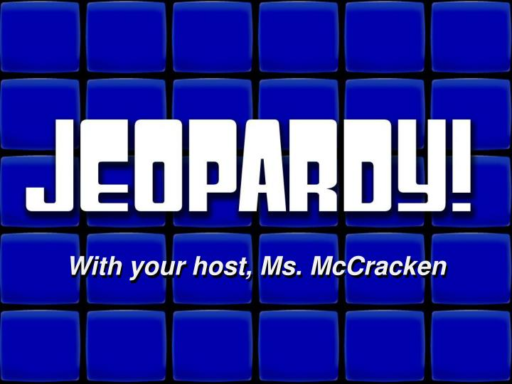 PPT Welcome To Jeopardy PowerPoint Presentation ID 2208722