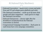 b national party machinery