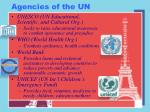 agencies of the un