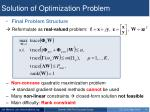 solution of optimization problem1