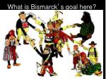 what is bismarck s goal here