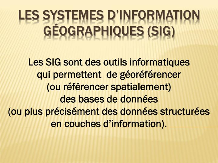les systemes d information g ographiques sig n.