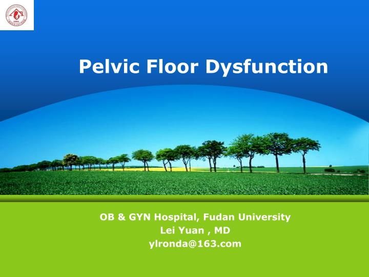pelvic floor dysfunction n.