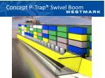concept p trap swivel boom1
