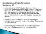 resistance and transformation workshop 15