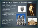 the artistic impact of the renaissance