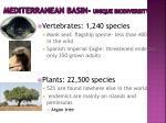 mediterranean basin unique biodiversity