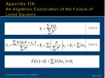 appendix 11a an algebraic explanation of the failure of least squares1